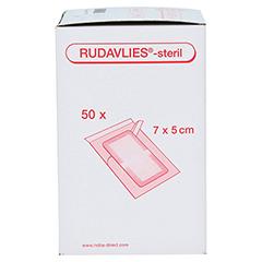 RUDAVLIES-steril Verbandpflaster5x7 cm 50 Stück - Rechte Seite