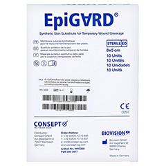EPIGARD Verband 8x5 cm 10 Stück - Rückseite