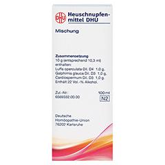 HEUSCHNUPFENMITTEL DHU Liquidum 100 Milliliter N2 - Rückseite