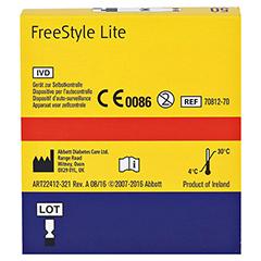 FREESTYLE Lite Teststreifen ohne Codieren 50 Stück - Rückseite