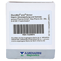 GLUCOMEN areo Sensor Teststreifen 50 Stück - Rückseite