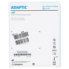 ADAPTIC 7,6x7,6 cm feuchte Wundauflage 2012DE 50 Stück - Rückseite