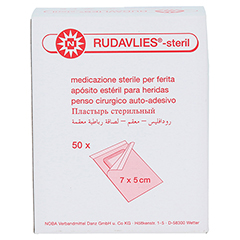 RUDAVLIES-steril Verbandpflaster5x7 cm 50 Stück - Rückseite