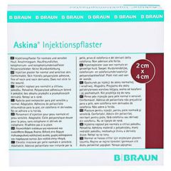 ASKINA Injektionspflaster 2x4 cm 250 Stück - Rückseite
