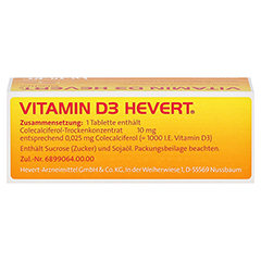 VITAMIN D3 HEVERT Tabletten 50 Stück N2 - Oberseite