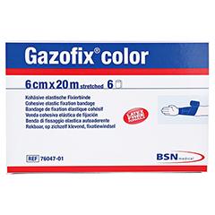 GAZOFIX color Fixierbinde kohäsiv 6 cmx20 m blau 6 Stück - Oberseite