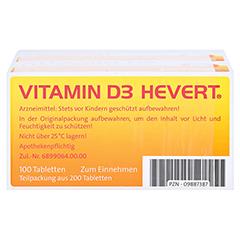 Vitamin D3 Hevert 200 Stück - Unterseite