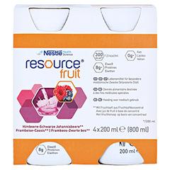 RESOURCE Fruit Himbeere/schw.Johannisbeere 4x200 Milliliter - Vorderseite