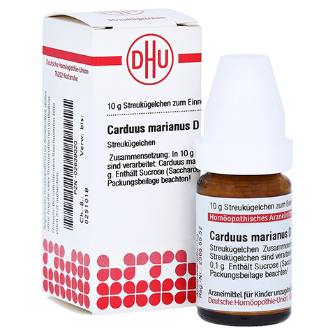 CARDUUS MARIANUS D 6 Globuli 10 Gramm N1