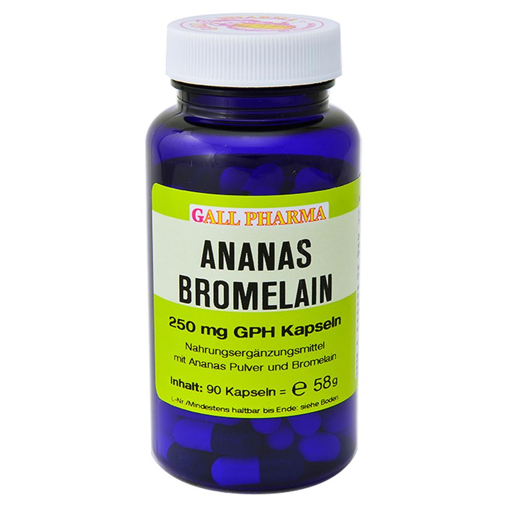 ananas bromelain 250 mg gph kapseln 90 st ck online bestellen medpex versandapotheke. Black Bedroom Furniture Sets. Home Design Ideas