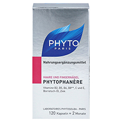 PHYTOPHANERE Nahrungserg.Haare+N�gel Kapseln 120 St�ck - Vorderseite
