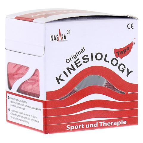 NASARA Kinesiologie Tape 5 cmx5 m rot 1 Stück