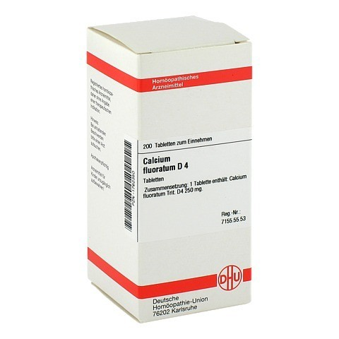 CALCIUM FLUORATUM D 4 Tabletten 200 Stück N2