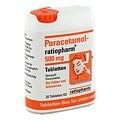 Paracetamol-ratiopharm 500mg 20 St�ck N2