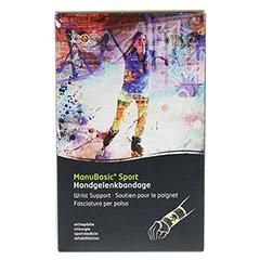 BORT ManuBasic Sport Bandage re.medium schw/grün 1 Stück - Vorderseite