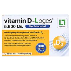VITAMIN D-Loges 5.600 I.E. Kautabl.Familienpackung 60 Stück - Vorderseite