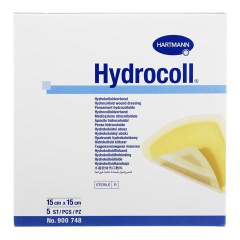 HYDROCOLL Wundverband 15x15 cm 5 Stück