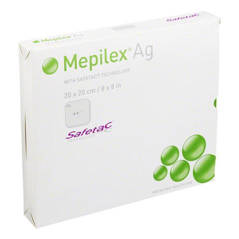 MEPILEX Ag Schaumverband 20x20 cm steril 5 Stück