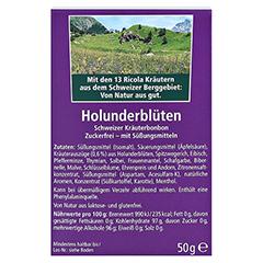 Ricola o.Z. Box Holunderblüten Bonbons 50 Gramm - Rückseite