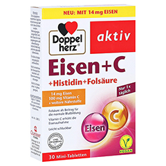 DOPPELHERZ Eisen+Vit.C+L-Histidin Tabletten 30 Stück