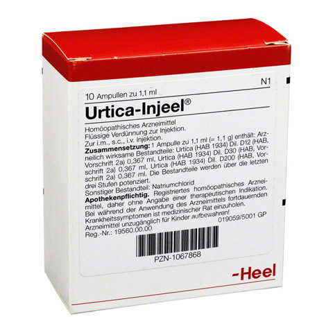 URTICA INJEEL Ampullen 10 Stück N1