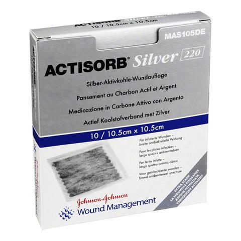 ACTISORB 220 Silver 10,5x10,5 cm steril Kompressen 10 Stück