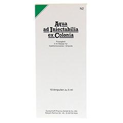 AQUA AD iniectabilia ex Colonia Ampullen 10x5 Milliliter N2 - Vorderseite
