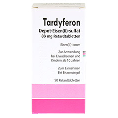 Tardyferon Depot-Eisen(II)-sulfat 80mg 50 St�ck N2 - Vorderseite