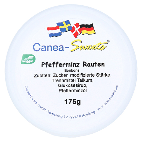 PFEFFERMINZ RAUTEN Bonbons 175 Gramm