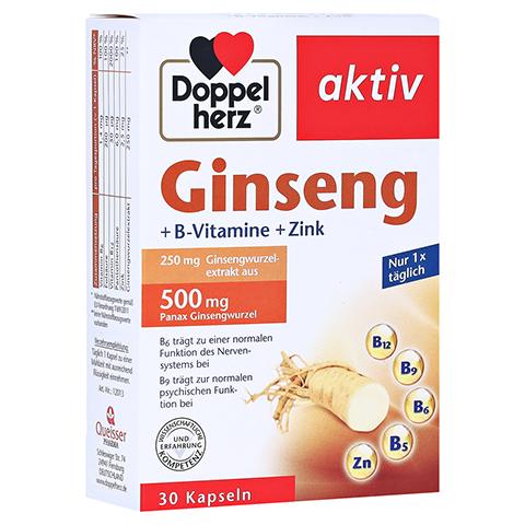 DOPPELHERZ Ginseng 250+B-Vitamine+Zink Kapseln 30 Stück