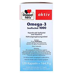 DOPPELHERZ Omega-3 Seefischöl 1000 Kapseln 120 Stück - Rechte Seite