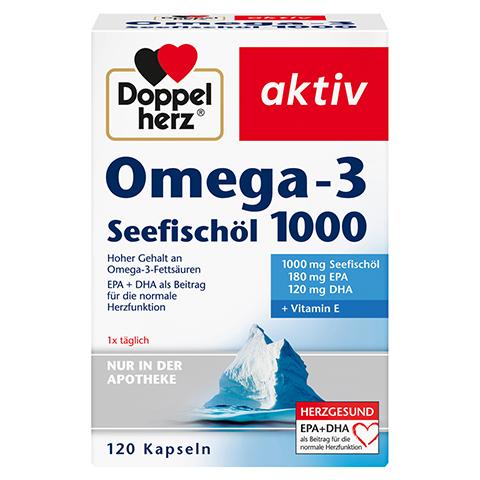 DOPPELHERZ Omega-3 Seefischöl 1000 Kapseln 120 Stück