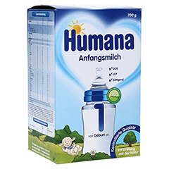 HUMANA Anfangsmilch 1 LCP+GOS Pulver 700 Gramm