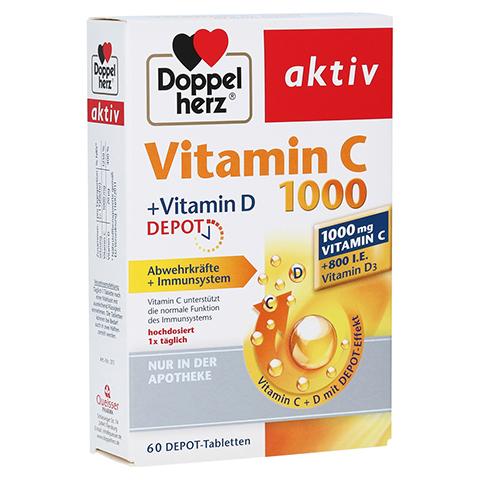 DOPPELHERZ aktiv Vitamin C 1000+Vitamin D Depot 60 Stück