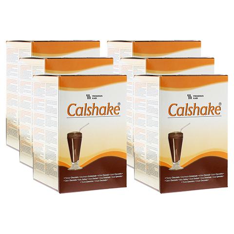 CALSHAKE Schokolade Beutel Pulver 6x7x90 Gramm