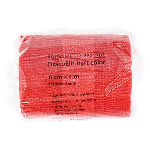 DRACOELFI haft color Fixierbinde 6 cmx4 m rot 1 Stück
