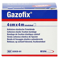 GAZOFIX Fixierbinde kohäsiv 4 cmx4 m 1 Stück - Vorderseite