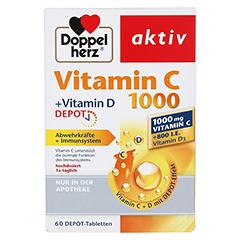 DOPPELHERZ aktiv Vitamin C 1000+Vitamin D Depot 60 Stück - Vorderseite