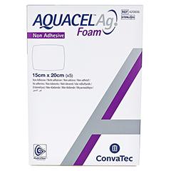 AQUACEL Ag Foam nicht adhäsiv 15x20 cm Verband 5 Stück - Vorderseite