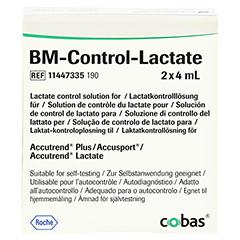 BM TEST Control Lactate Lösung 2 Stück - Vorderseite