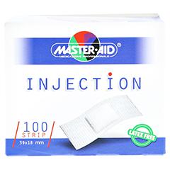 INJECTION strip weiß 18x39 mm Master Aid 100 Stück - Vorderseite