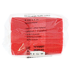 DRACOELFI haft color Fixierbinde 6 cmx4 m rot 1 Stück - Linke Seite
