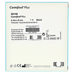 COMFEEL Plus flexibler Wundverb.4x6 cm 3146 10 Stück - Rückseite
