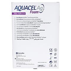 AQUACEL Ag Foam nicht adhäsiv 15x20 cm Verband 5 Stück - Rückseite