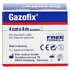 GAZOFIX Fixierbinde kohäsiv 4 cmx4 m 1 Stück - Rückseite