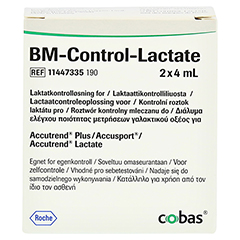 BM TEST Control Lactate Lösung 2 Stück - Rückseite