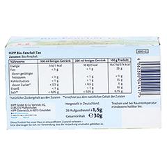 HIPP Bio Tee Fenchel Beutel 20x1.5 Gramm - Unterseite