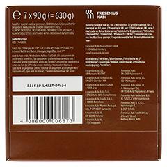 CALSHAKE Schokolade Beutel Pulver 6x7x90 Gramm - Unterseite
