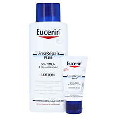 EUCERIN UreaRepair PLUS Lotion 5% + gratis Urea Handcreme 30 ml 250 Milliliter
