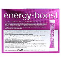 ENERGY-BOOST Orthoexpert Direktgranulat 56x3.8 Gramm - Rückseite